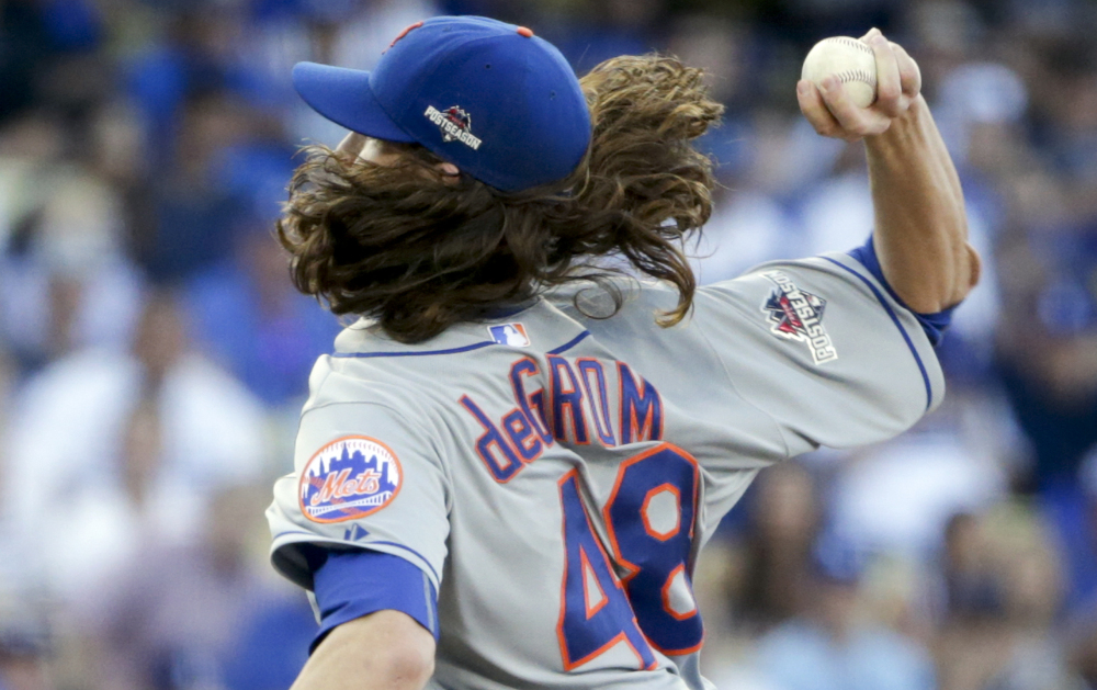 Jacob deGrom already has two wins in the playoffs, beating the Dodgers twice in the NLDS. He'll take the mound Tuesday with a chance to give the Mets a 3-0 lead in the NLCS.