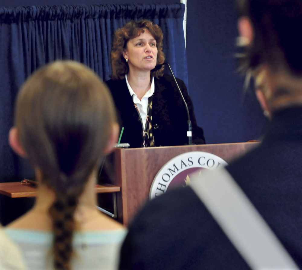Thomas College President Laurie Lachance announced on Tuesday that the Waterville college will open the new Center for Innovation in Education.