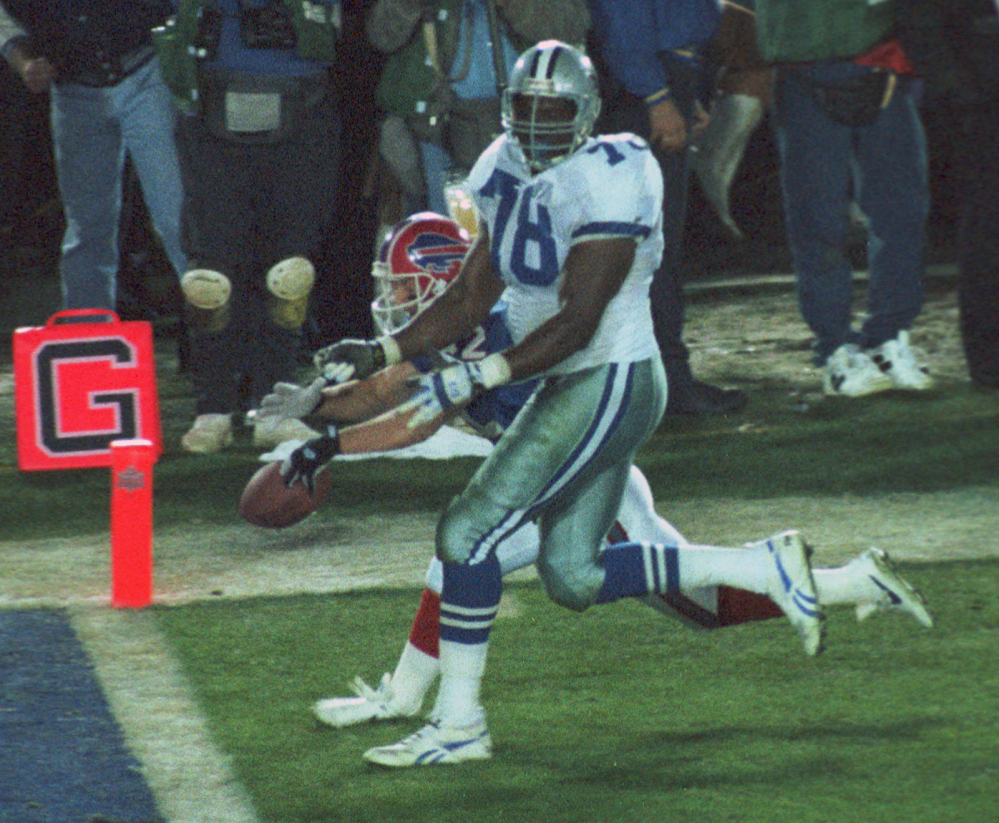 Leon Lett's touchdown celebration for Dallas in the 1993 Super Bowl became a fumble against the Bills. Not the only Lett oops moment.