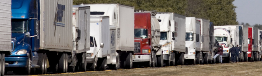 The trailers on many tractor-trailers are 53 feet, while the trucks add another 20 feet. Some in Congress say it would be too dangerous to allow longer trailers nationwide.