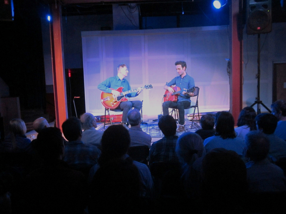 Nels Cline and Julian Lage at SPACE Wednesday.