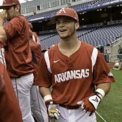 Andrew Benintendi had a lot to smile about after the Red Sox signed him to a $3.59 million bonus after his sophomore year at the University of Arkansas. But how soon he'll be ready for Boston remains to be seen.