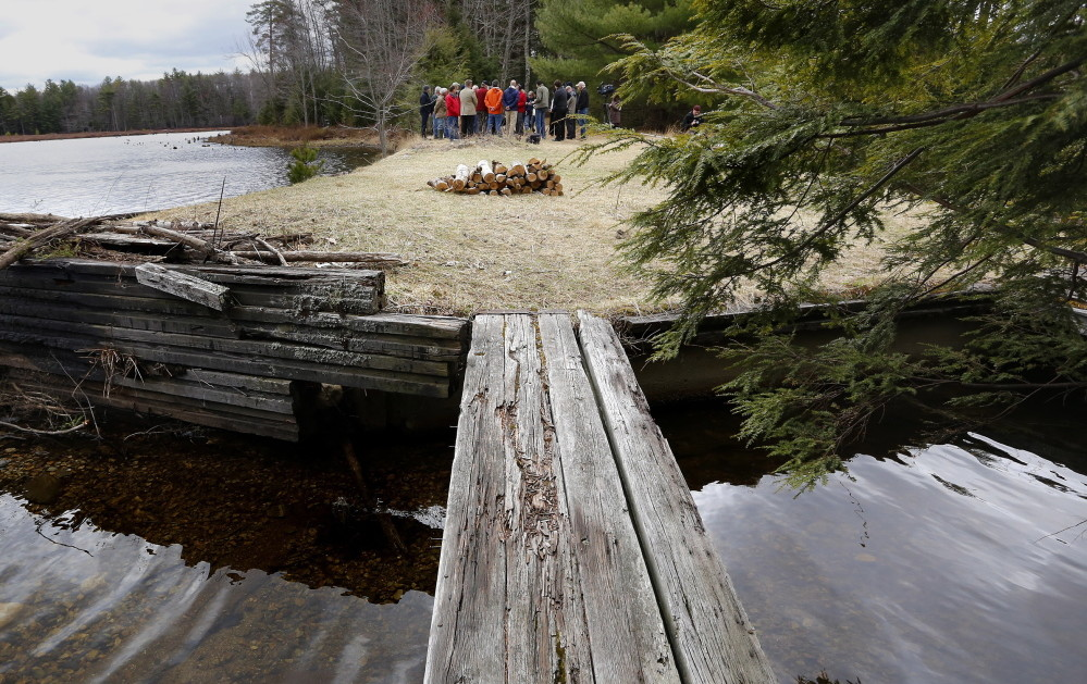 Knight's Pond and Blueberry Hill in Cumberland are part of dozens of conservation initiatives in jeopardy owing to uncertainty over the Land for Maine's Future program.