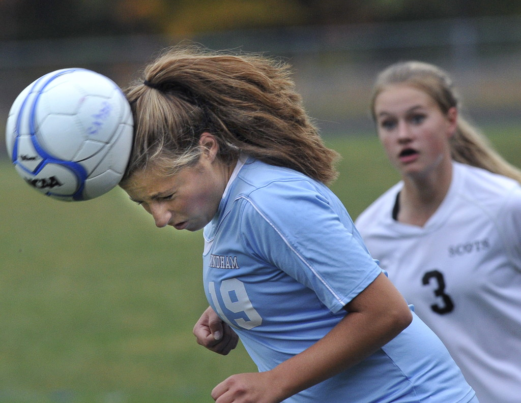 Girls soccer games are too often poorly controlled by officials, and players aren't penalized for actions that can cause injuries, according to a reader responding to an editorial about concussions in high school sports. 2014 Press Herald File Photo