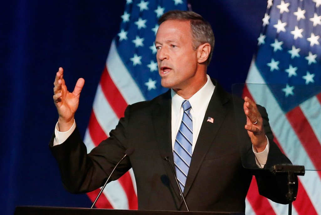 Martin O'Malley speaks in Minneapolis in August. The former Maryland governor needs a breakthrough in Tuesday night's Democratic presidential debate. The Associated Press