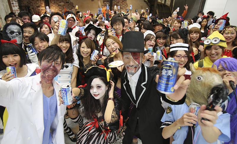 Japan celebrates Halloween with spooky fashion sense - Portland ...