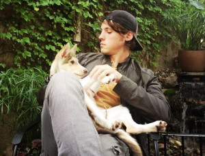Joel Carpenter with his dog Sadie, that he adopted in Minnesota. Handout photo