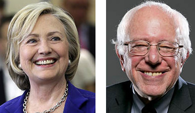 Hillary Clinton and Sen. Bernie Sanders