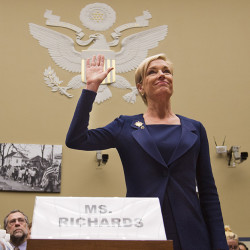 "Planned Parenthood Federation of America President Cecile Richards is sworn in before testifying at a House Committee on Oversight and Government Reform Hearing on ""Planned Parenthood's Taxpayer Funding"" in this Sept. 29, 2015, photo. The Associated Press"