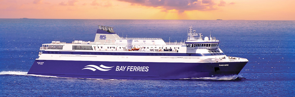 This image from Bay Ferries ' website shows the Fundy Rose, which has daily crossings between Digby, Nova Scotia, and Saint John, New Brunswick.