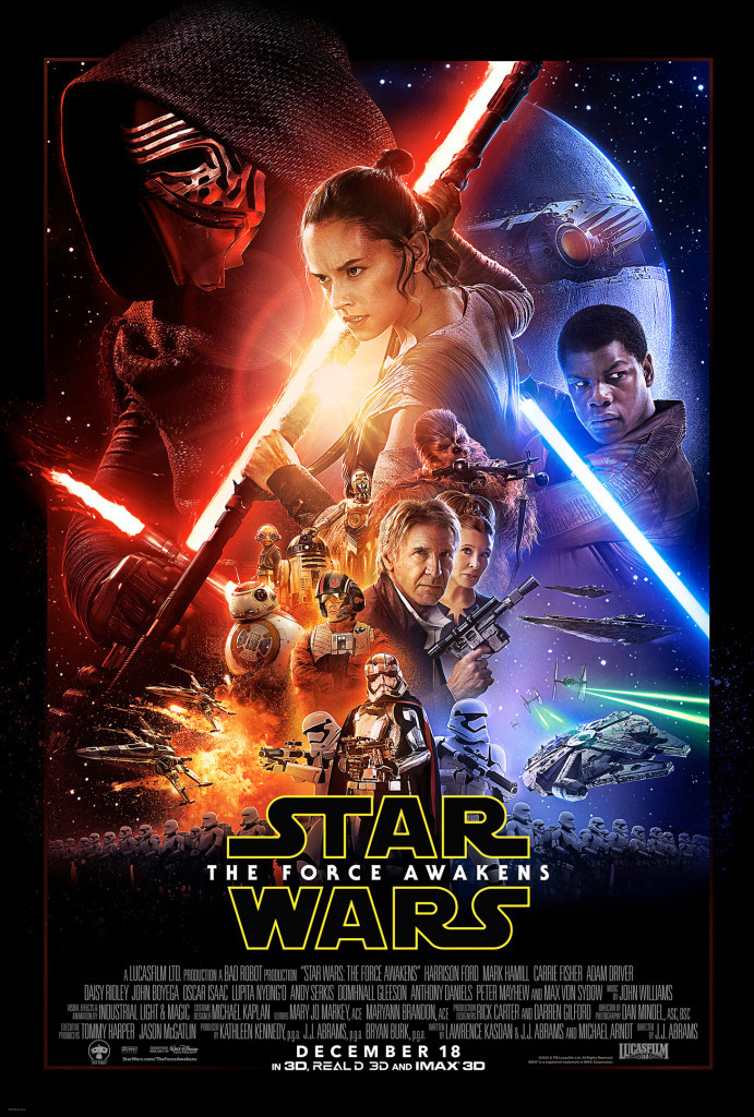 """Star Wars: The Force Awakens"" official theatrical poster."