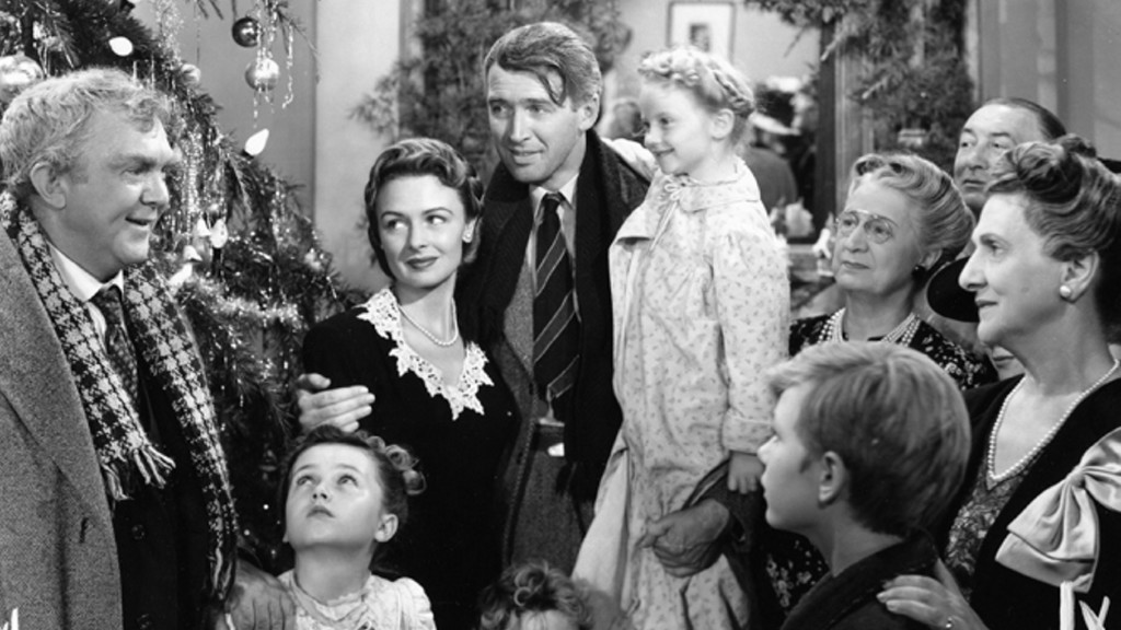 "NBC airs the 1946 classic ""It's a Wonderful Life,"" with James Stewart and Donna Reed, on Dec. 12. RKO Radio Pictures"