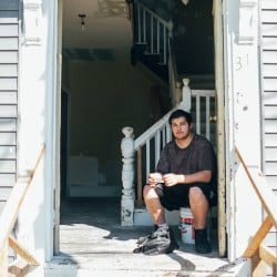 """Philip Austin says the four-bedroom apartment he shares with his family at 31 Oxford St. in East Bayside is frequently in need of repair and has mold in the ceiling. But landlord Clark Stephens says he wasn't aware of any mold problems. """"I try to stay on top of everything in the building,"""" he said. """"We pretty much fix everything, as needed."""""""