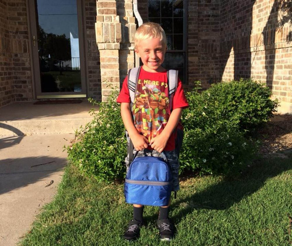 Kade Johnson, 6, in a photo from Hannah Johnson's Facebook page. Kade, Johnson's son, was one of six people killed in Texas Saturday. Kade's grandfather, Carl Johnson, was also killed.
