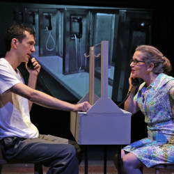 Graham Emmons as Lee Harvey Oswald and Betsy Aidem as his mother, Marguerite.