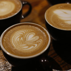 The Latte Art Throwdowns are held about every three months. Baristas compete for cash and bragging rights.