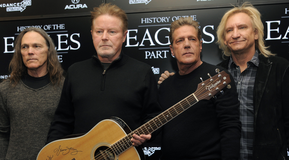 The Eagles, from left, Timothy B. Schmit, Don Henley, Glenn Frey and Joe Walsh, will defer their Kennedy Center Honor until Frey overcomes health issues.
