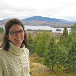 """Ruth McLaughlin, co-owner of Greenville's Blair Hill Inn, worries that wind turbines could be seen from her veranda. """"Our calling card is the view,"""" she said."""