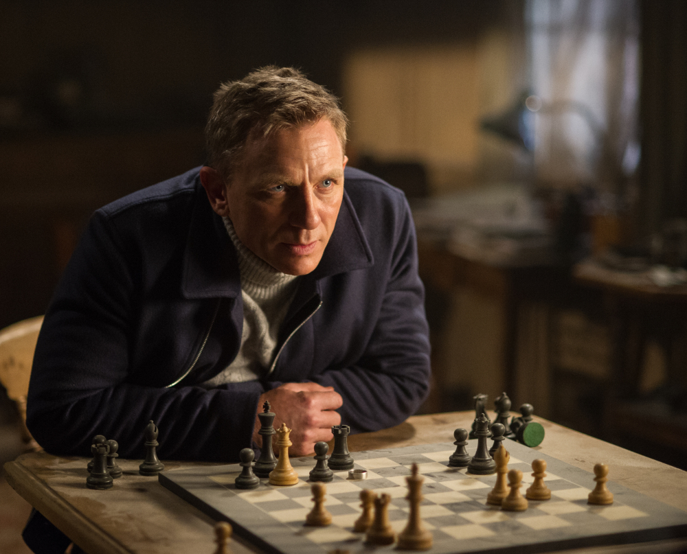 "Daniel Craig appears in a scene from the James Bond film ""Spectre."""