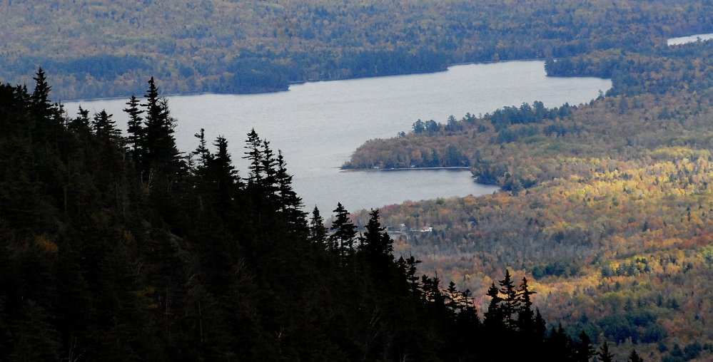 Forest Legacy funds, which the state has decided not to pursue for fiscal year 2017, have been used to complete some of the most significant conservation deals in Maine history, including nearly 26,000 acres of forestland near Webb Lake, above, in Franklin County.