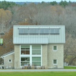 TerraHaus, a residential building at Unity College, is an example of the energy-efficient construction that Unity plans to continue with future plans.