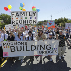 The Mormon church is struggling to find balance on being more gay-friendly while holding on to traditional beliefs.