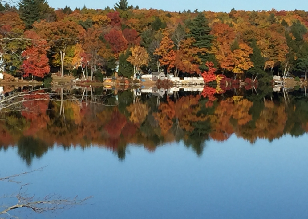 Until Forest Lake is covered with ice – which could be in around a month – it'll be ideal for reflecting on the glories of another Maine autumn. By Anita Taylor, of nearby Windham.