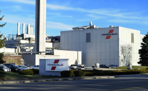 Fairchild Semiconductor's plant on Western Avenue in South Portland, seen last year, makes analog switches, USB devices, converters, speedy circuit breakers and other building blocks of digital circuitry.