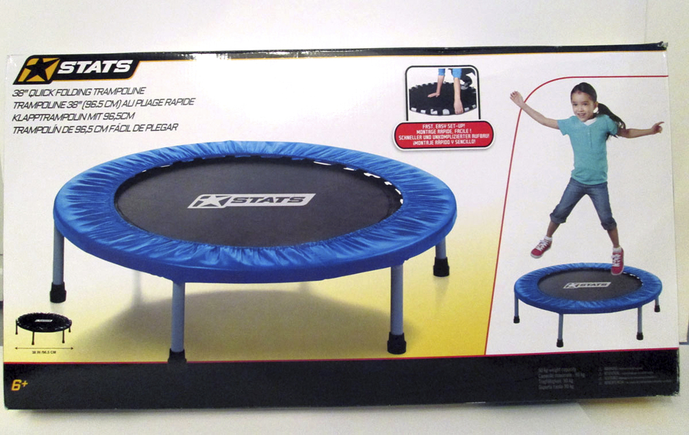 A quick-folding trampoline made a watchdog group's annual list of hazardous toys. An industry group defends the safety of the toys.