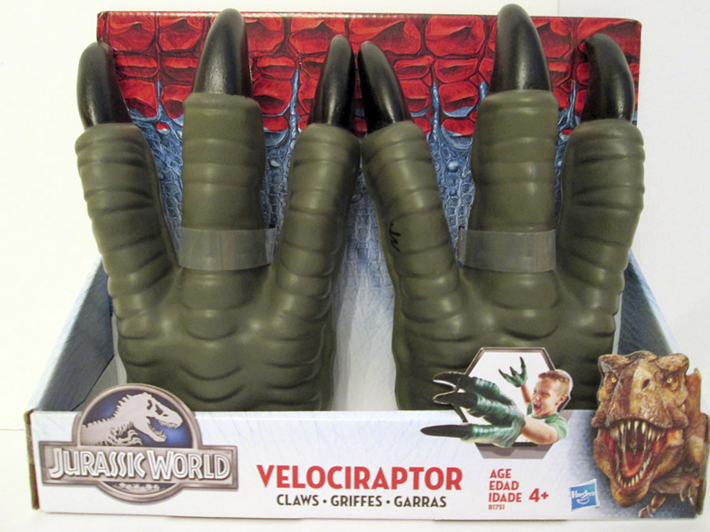 Toy dinosaur claws made an annual list of hazardous toys. The Massachusetts-based World Against Toys Causing Harm said the claws can cause eye and facial injuries.