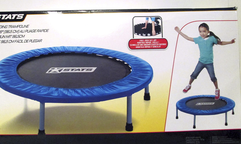 Stats' quick-folding trampoline is among the 10 most dangerous toys cited by the Massachusetts-based advocacy group World Against Toys Causing Harm, which says the device entails risk of head and neck injuries.
