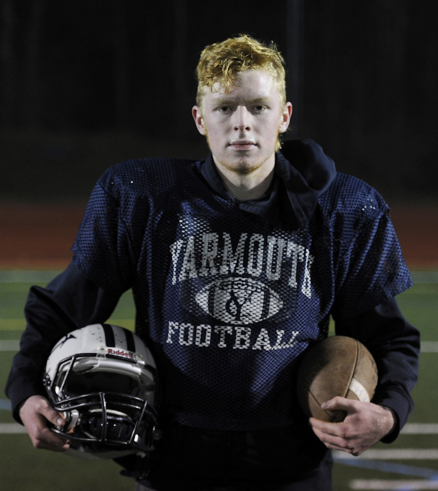 Yarmouth's Andrew Beatty is 5 for 9 on field goals this year, with four of those successful kicks from over 40 yards.
