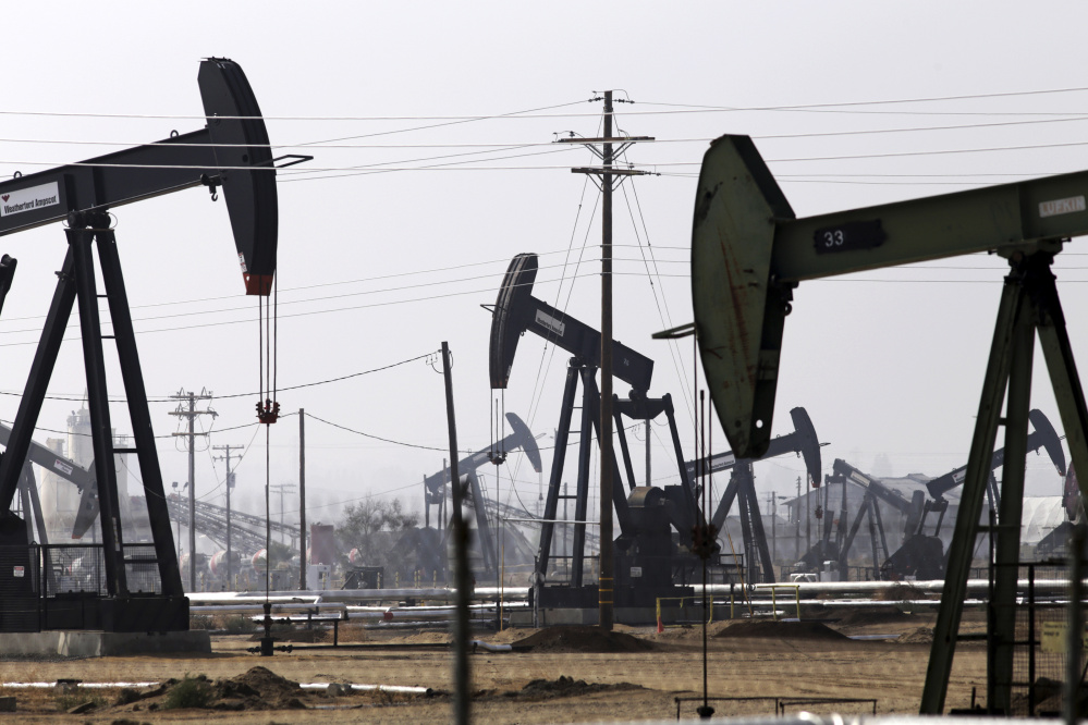 The Energy Department says U.S. crude oil inventories