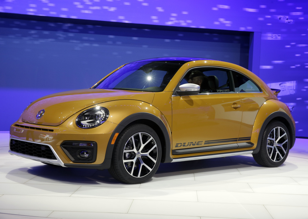 The 2017 Volkswagen Beetle Dune is on display at the Los Angeles Auto Show on Wednesday. The automaker has until Friday to submit plans for fixing emissions systems.
