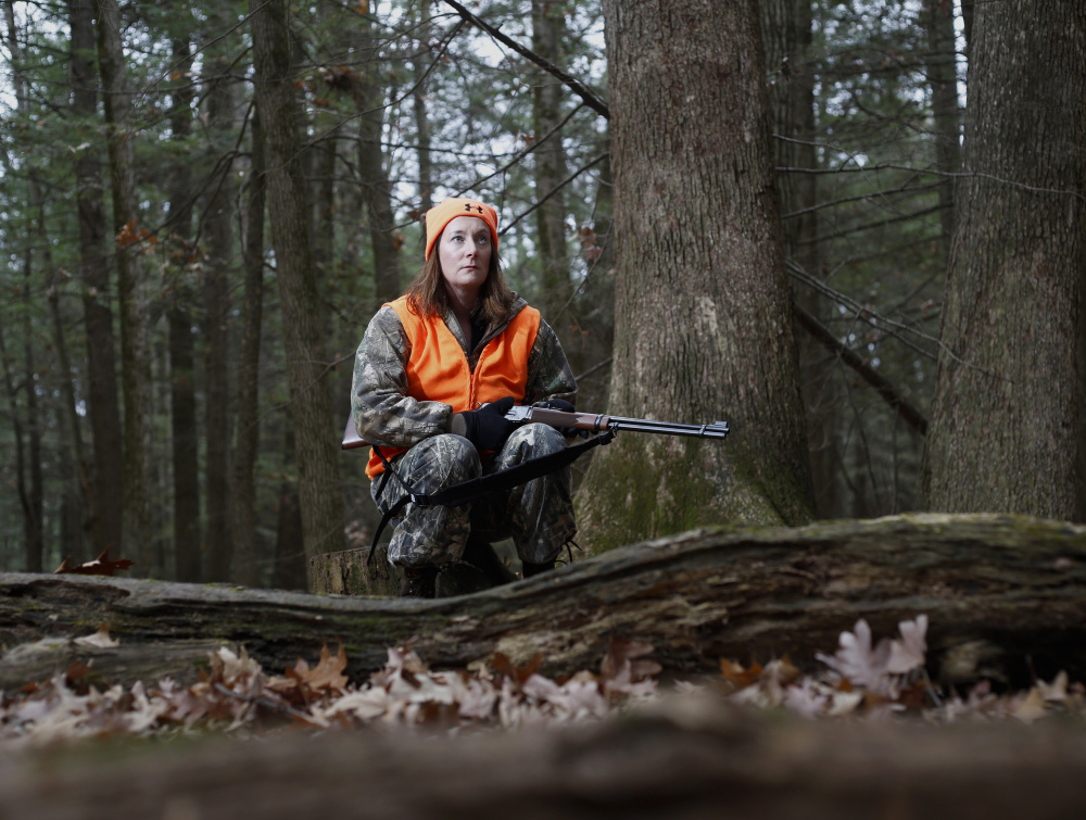 Deirdre Fleming, a Maine resident for 20 years, became a reliable shot after two months of target practice. She sees hunting as a way to help fight deer tick-borne Lyme disease and to provide organic meat for the table.