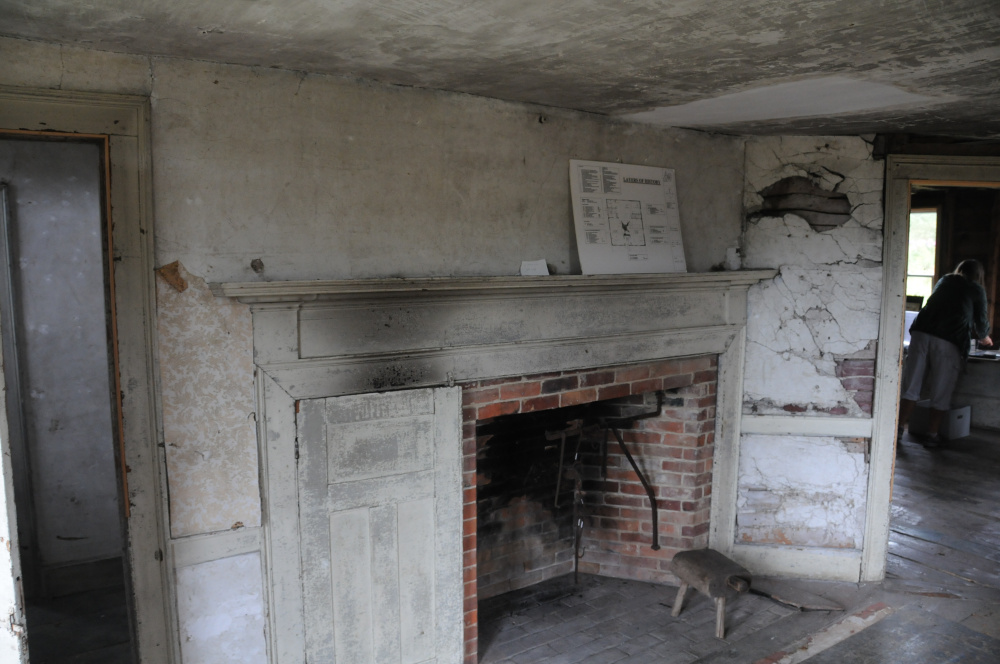 The front living area of historic Pettengill Farm is left in its original state to offer visitors a glimpse of changes the took place in interior design over time.