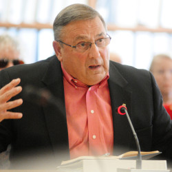 Testifying before the Legislature's Appropriations Committee on Nov. 5, Gov. LePage talks about calling out the National Guard to battle drug dealers. He's since given legislators a deadline to take action: Dec. 10.