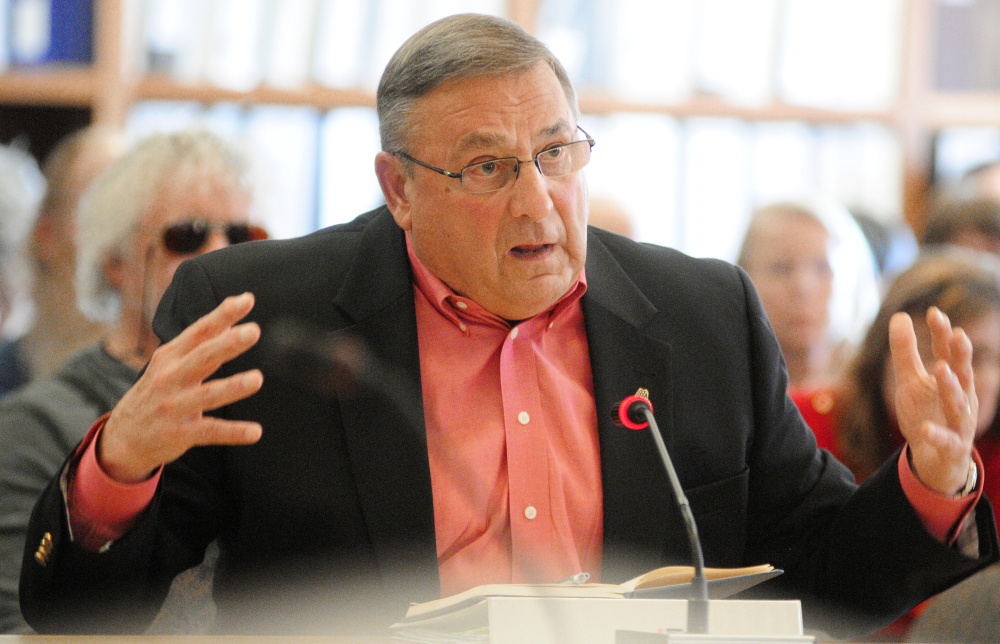 Gov. Paul LePage may be developing new initiatives to address the heroin epidemic in Maine.