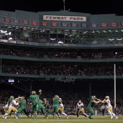 Notre Dame and Boston College staged a thrilling 19-16 game at Fenway Park on Saturday, followed by a rowdy battle of Irish hurling – Galway vs. Dublin – the next day.