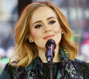 "Adele performs on the ""Today"" show on Wednesday. to promote her latest release, ""25."" (Heidi Gutman/NBC via AP)"