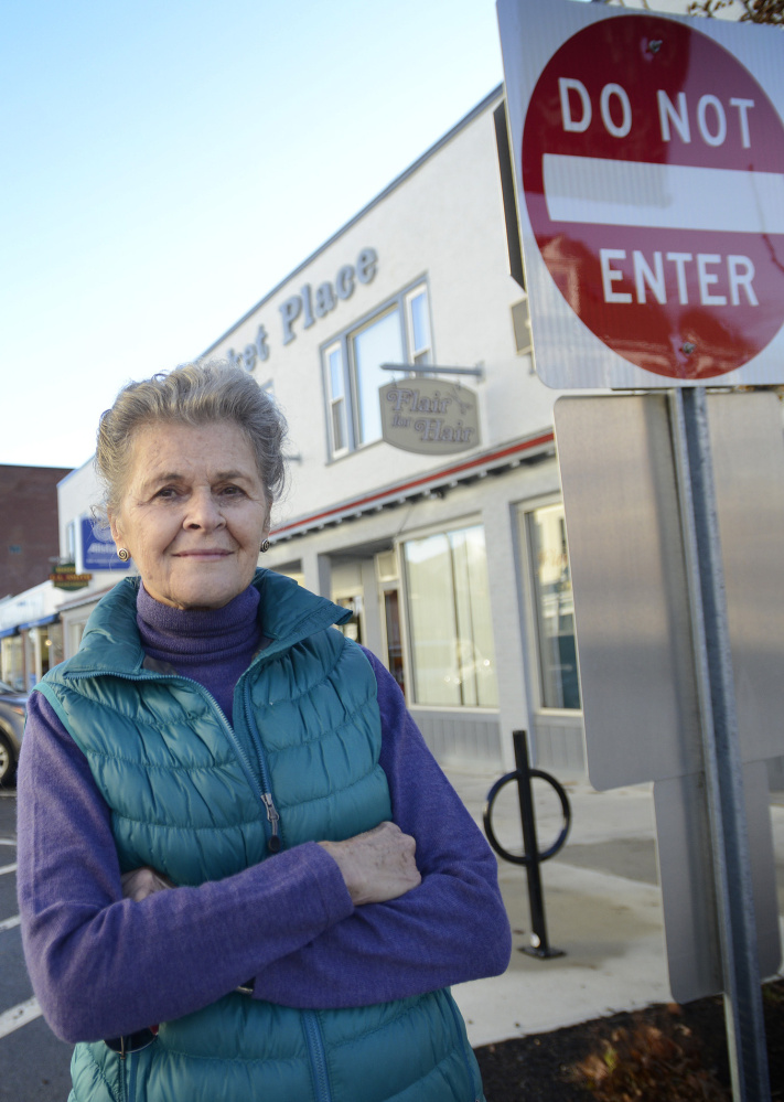 "Knightville resident Caroline Hendry believes the one-way section of Ocean Street in her South Portland neighborhood creates  division. ""Let's make the whole thing whole again,"" she says."
