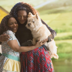 "Stephanie Mills, left, as Auntie Em and Shanice Williams as Dorothy in ""The Wiz Live!"" premiering Thursday on NBC."