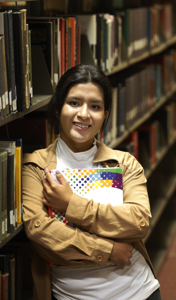 An aspiring doctor, Michelle Rodriguez, 19, attends Malcolm X Community College in Chicago. The city's Star Scholarship initiative pays for tuition, books and transportation.