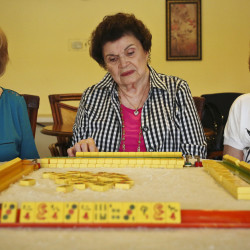 Friends, from left, Lee Delnick, 86, Zelda King, 87, and Bernice Wexler Diamond, 89, were investigated for betting on mahjong in their condominium's clubhouse in Altamonte Springs, Fla.