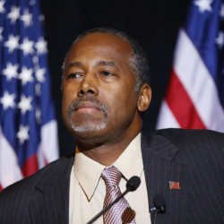 Ben Carson's trip to the Middle East comes as the Republican candididate for the White House faces harsh criticism on his lack of foreign policy expertise. He has said the U.S. should do more to help refugees in Jordan – but not bring the them into the U.S.