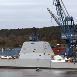 The Navy's stealthy Zumwalt destroyer, which was built at Bath Iron Works, in Bath, has an unusual hull that fell out of favor a century ago in part because it can be unstable.