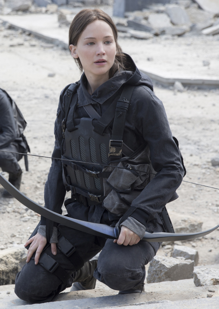 "Jennifer Lawrence portrays Katniss Everdeen in ""The Hunger Games: Mockingjay – Part 2,"" which opened  in U.S. theaters Nov. 20."