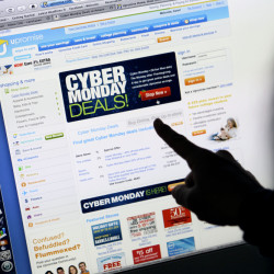 Retailers roll out online deals on Cyber Monday.