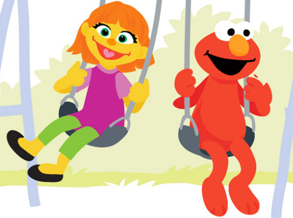 """The addition of Julia, here with Elmo, to the lineup of Muppet characters is part of a new initiative, """"Sesame Street and Autism: See Amazing in All Children."""" Sesame Street photo The addition of Julia, here with Elmo, to the lineup of Muppet characters is part of a new initiative, """"Sesame Street and Autism: See Amazing in All Children."""""""