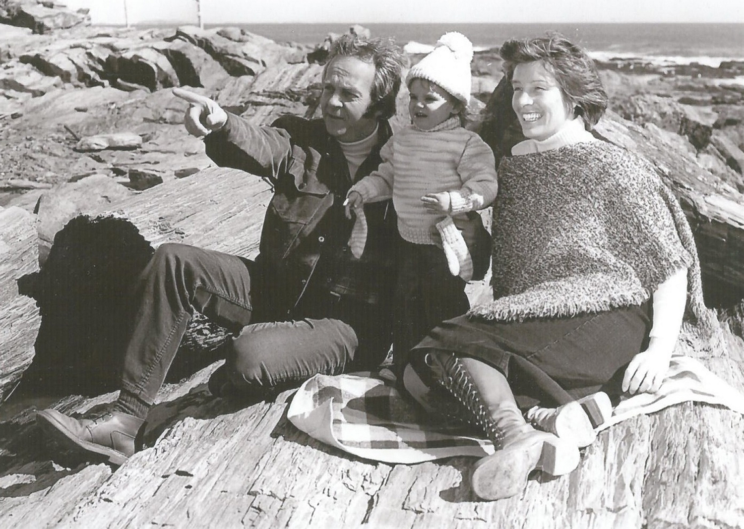 Joe and Claire Brannigan with their son, Luke, at Two Lights State Park in Cape Elizabeth in the late 1970s.  Photo courtesy of Claire Brannigan